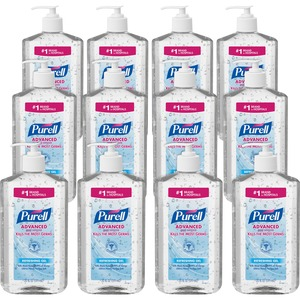 Gojo PURELL Instant Hand Sanitizer Refill - 20fl oz - Pump Bottle Dispenser - Moisturizing - Clear