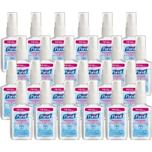 Gojo PURELL Personal Pump Instant Hand Sanitizer - 2fl oz - Pump Bottle Dispenser - Moisturizing - Clear - 24 / Carton