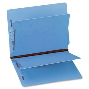 "Gussco 6 Part Letter Folder With End Tab - Letter - 8.5"" x 11"" - 1"" Expansion - 2 Fastener - 1"" Capacity - 1 Each - 15pt. - Blue"