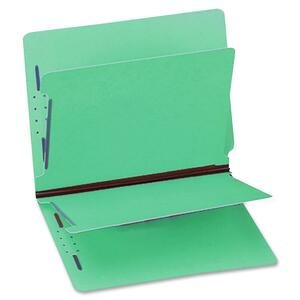 "Gussco 6 Part Letter Folder With End Tab - Letter - 8.5"" x 11"" - 1"" Expansion - 2 Fastener - 1"" Capacity - 1 Each - 15pt. - Green"