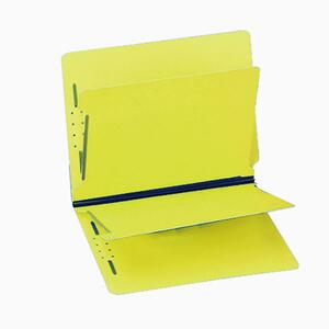 "Gussco 6 Part Letter Folder With End Tab - Letter - 8.5"" x 11"" - 2 Divider - 1"" Expansion - 6 Fastener - 1"" Capacity - 1 Each - 15pt. - Canary"