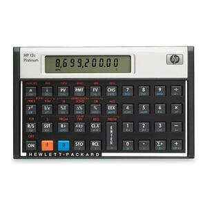 "HP 2CPT Financial Calculator - 130 Functions - 1 Line(s) - 10 Character(s) - LCD - Battery Powered - 5.1"" x 3.1"" x 0.6"" - Platinum"