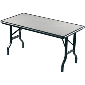 Black Leg. Charcoal. Folding Table