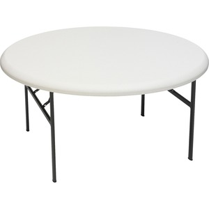 "Iceberg IndestructTable TOO Folding Table - Round x 29"" - 60"" - Steel - Gray Leg, Platinum"