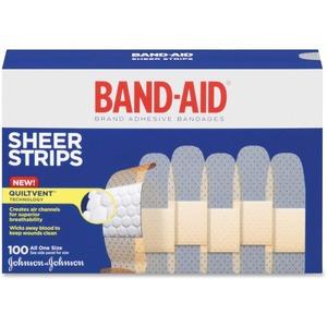 "Band-Aid® Brand Plastic Adhesive Bandages 1"" x 3"", 100/Box"