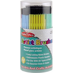 Charles Leonard, Inc Cli Artist Brushes - 144 Brush(Es) - Assorted Plastic