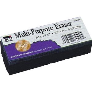 Charles Leonard, Inc Cli Multi-purpose Eraser - 2 Width X 5 Length - Washable - Black - Felt - 1EACH