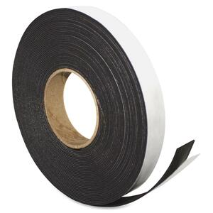 "Magna Visual Magnetic Tape - 1"" Width x 50' Length - Magnet - Flexible - 1 Roll - Charcoal"