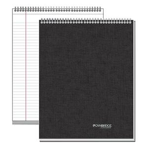 "Mead Top Bound Legal Ruled Action Planner - 8.5"" x 11"" - Linen, Paper - Black"