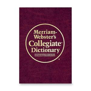 Merriam-Webster 10th Annual Collegiate Dictionary Eleventh EditionDictionary Printed/Electronic Book MER10