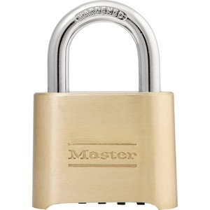 Master Lock Combination Padlock - 4 Digit - Brass - Brass