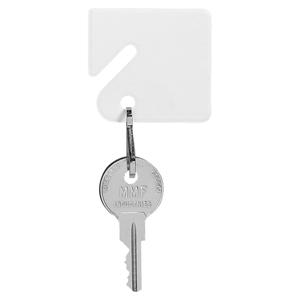 Slotted Square Plastic Key Tag