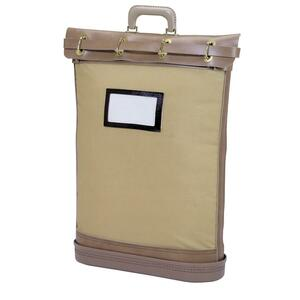 "MMF Security Bag with Pad Lock - Courier Bag - 18"" x 24"" - 5.25"" Gusset - Cordura Plus, Canvas, Plastic - 1 Each - Tan"