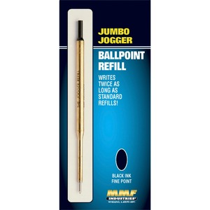 MMF Jumbo Jogger Ballpoint Pen Refill - Fine Point - Black For MMF Industries Ballpoint Pen 1 Each