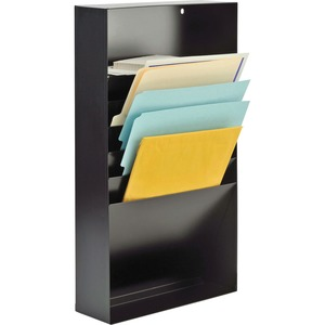 "MMF Steelmaster Desk Drawer Stationery Tray - 3.75"" x 11.37"" x 21"" - 10 x Envelope, 10 x Memo Pad - 5 Compartment(s) - Steel - Black"