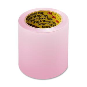 "3M Scotch Labelgard Film Tape - 4"" Width x 72yd Length - Acetate - Latex-free - 1 Roll - Pink"