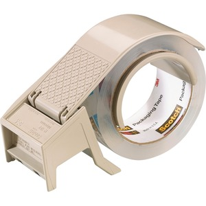 Scotch H-122 Box Sealing Tape Dispenser - Holds Total 1 Tape(s) - Refillable - Gray