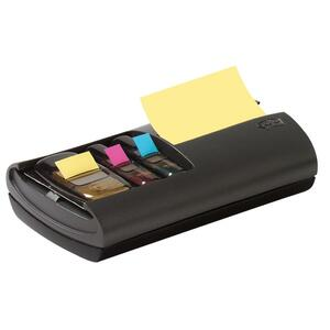 "3M Post-it Pop-Up Combo Dispenser - 3"" x 3"", 1"" - Black"
