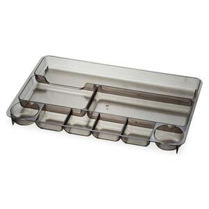 "OIC 9 Compartment Desk Tray - 9"" x 14"" x 1.12"" - Smoke"