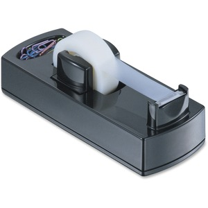 OIC 2200 Desktop Tape Dispenser - Holds Total 1 Tape(s) - Refillable - Non-skid Base - Black