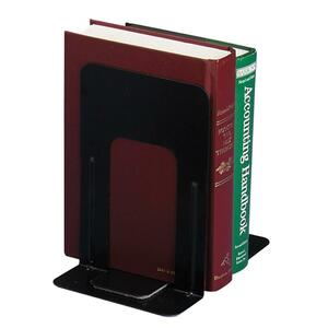 "OIC Standard Metal Bookend - 9"" x 8.18"" x 5.87"" - Steel - Black"