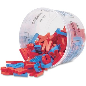 "Pacon Magnetic Upper Case Alphabet Letters - 1.5"" - Plastic - Blue, Red"