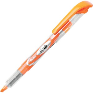 Pentel 24/7 Highlighter - Marker Point Style: Chisel - Ink Color: Orange - 12 / Dozen