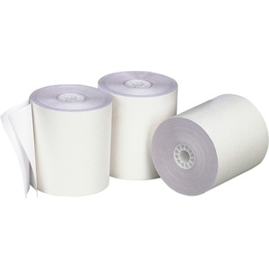 "PM SECURIT Teller Paper Roll - 3"" x 140' - 50 / Carton - White"