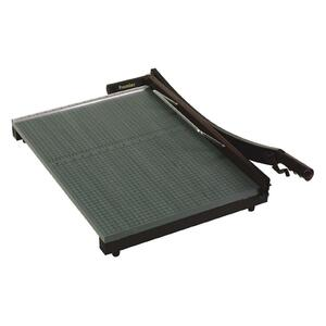"Martin Yale Stakcut Paper Trimmer - Cuts 30 Sheet - 15"" Cutting Length - Wood Base, Steel Blade - Green"