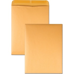 "Quality Park Kraft Catalog Envelopes - #13 1/2 (10"" x 13"") - 28lb - Gummed - Kraft - 250 / Box - Kraft"