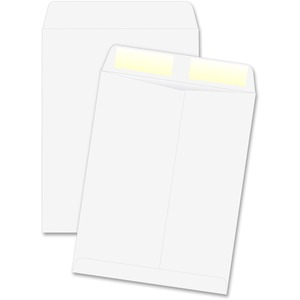 "Quality Park Catalog Envelope - #13 1/2 (10"" x 13"") - 28lb - Gummed - Wove - 250 / Box - White"