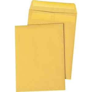 "Quality Park Redi-Seal Catalog Envelopes - #10 1/2 (9"" x 12"") - 28lb - Self-sealing - Kraft - 250 / Box - Kraft"