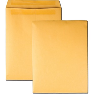 "Quality Park Redi-Seal Catalog Envelope - #13 1/2 (10"" x 13"") - 28lb - Self-sealing - Kraft - 250 / Box - Kraft"