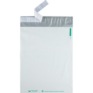 Quality Park Plastic Mailing Envelopes - #13 (10&quot; x 13&quot;) - Self-sealing - 100 / Pack - White