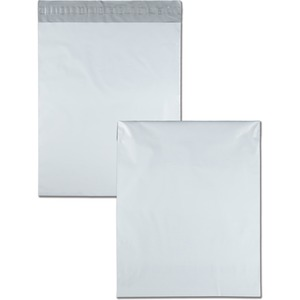 Quality Park Poly Envelopes With Perforation - 14&quot; x 17&quot; - Self-sealing - Polypropylene - 100 / Pack - White