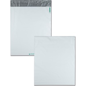 Quality Park Poly Expansion Mailer - 13&quot; x 16&quot; - Self-sealing - Polyethylene - 100 / Carton - White