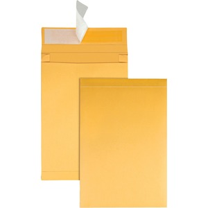 "Quality Park Redi Strip Expansion Envelopes - 9"" x 12"" - 40lb - Self-sealing - Kraft - 25 / Pack - Kraft"