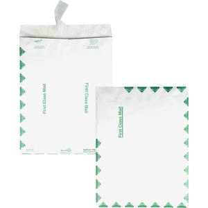 "Quality Park Survivor First Class Envelopes - #1 (6"" x 9"") - 14lb - Self-sealing - Tyvek - 100 / Box - White"