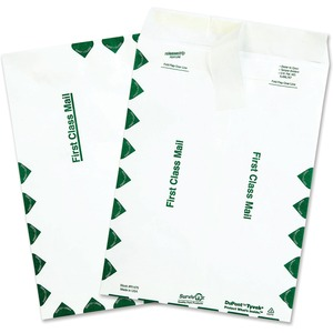 "Quality Park Survivor First Class Envelopes - #10 1/2 (9"" x 12"") - 14lb - Self-sealing - Tyvek - 100 / Box - White"