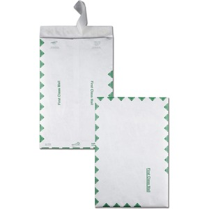 "Quality Park Survivor First Class Envelopes - 10"" x 15"" - 14lb - Self-sealing - Tyvek - 100 / Box - White"