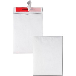 "Quality Park Tamper-Indicating Envelopes - 9"" x 12"" - 14lb - Self-sealing - Tyvek, Tyvek - 100 / Box - White"