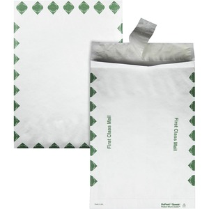 "Quality Park Open-End 1st Class Envelope - 10"" x 13"" - 14lb - Self-sealing - Tyvek - 100 / Carton - White"