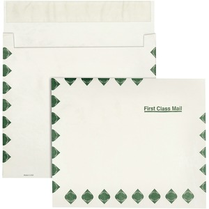 "Quality Park Tyvek Expansion First Class Envelope - 10"" x 13"" - 14lb - Self-sealing - Tyvek - 100 / Carton - White"