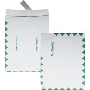 "Quality Park Ship-Lite First Class Envelope - 10"" x 13"" - Self-sealing - 100 / Box - White"