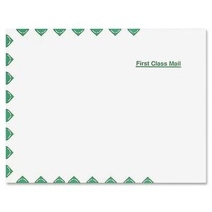 "Quality Park First Class Expansion Envelope - 12"" x 16"" - Self-sealing - Linen - 100 / Box - White"