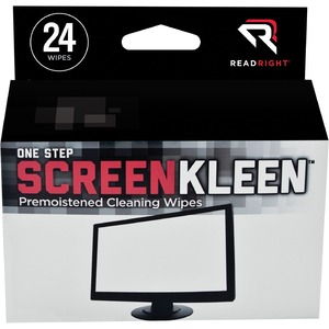 Read Right OneStep CRT Screen Cleaning Wipes REARR1209