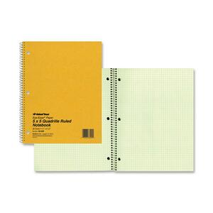 Rediform National Green Eye Ease Wirebound Quad Notebook RED33209