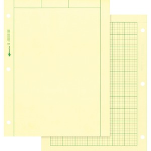 "Rediform National Computation Pad - 100 Sheet(s) - Quad Ruled - Letter 8.5"" x 11"" - 100 / Pad - Green"