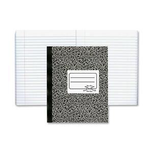 "Rediform National College Ruled Composition Book - 80 Sheet(s) - College Ruled - 7.88"" x 10"" - 1 Each - White"