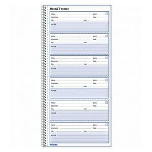 "Rediform Voice Mail Log Book - 600 Sheet(s) - Wire Bound - 1 Part - 10.62"" x 5.62"" Sheet Size - White - 1Each"